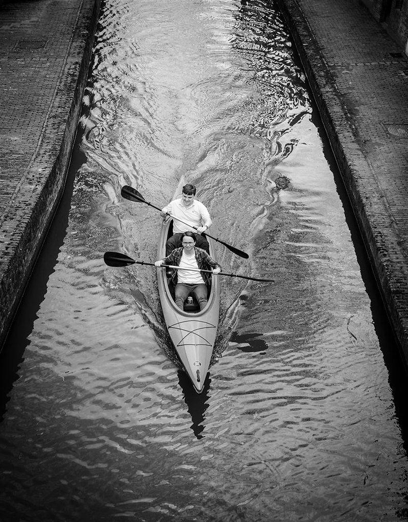 kanoën op de Utrechtse grachten